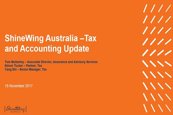 Tax and Accounting Update